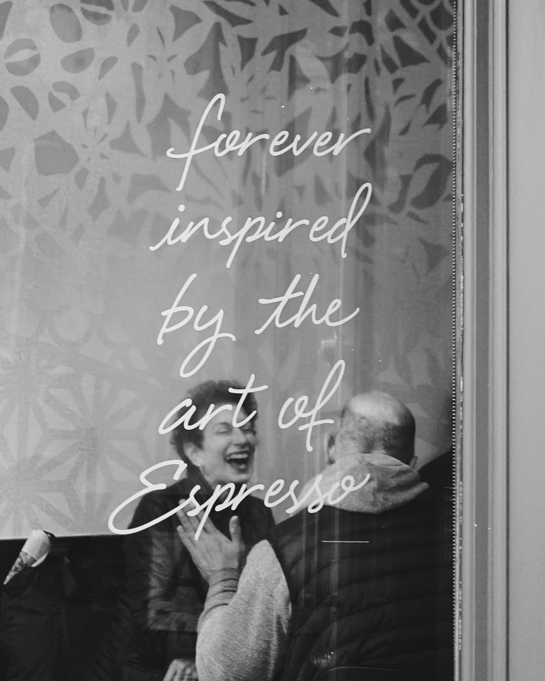 forever inspired by the love of esperros starbucks window with couple laughing inside